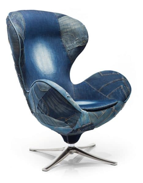 swivel chair lounge jeans-kare-roomfactory