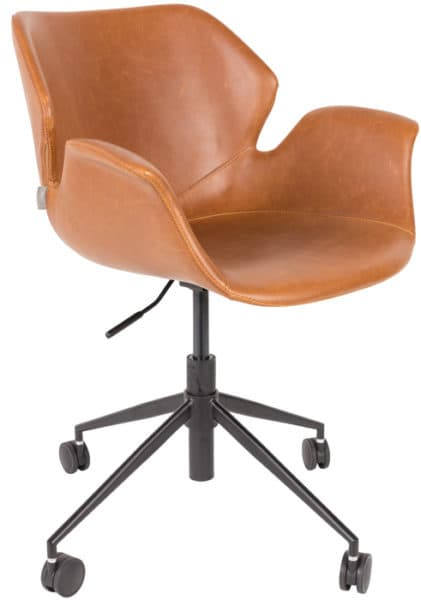 zuiver_nikki office chair_roomfactory_brown