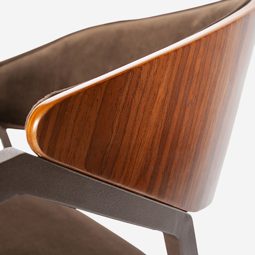 Woood_Clan_dining_chair_velvet_brown_det01